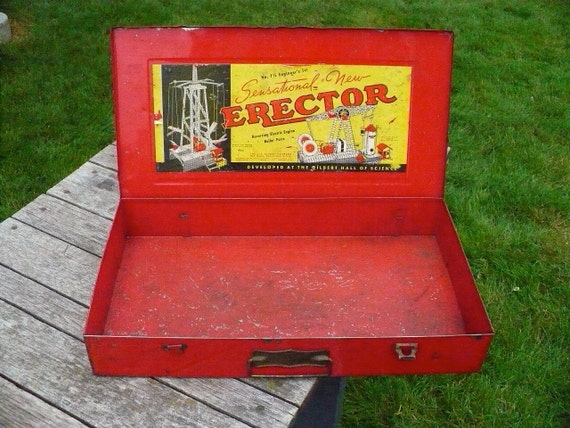 No. 7-1/2 Engineer's Erector Set Box - 1938 - Reserved for missirochman