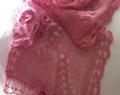 knitting pattern lace knit cowl scarf pdf knitting pattern cowl scarf neckwarmer - Sakura