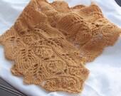 Instant Download pdf Hand Knitting Pattern  - Rosebud Knit Neck warmer