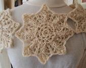 knitting pattern lace knit cowl scarf pdf knitting pattern cowl scarf neckwarmer - Snow Star Scarf PDF Hand Knitting Pattern