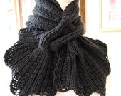 Instant Download pdf Hand Knitting Pattern - Sprigs Scarf