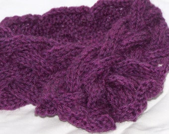 Big Amethyst Braid Knitting Scarf Pattern