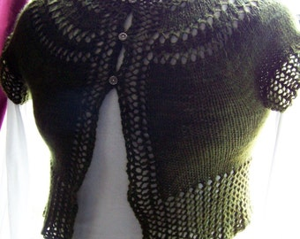 Olive PDF Hand Knitting Pattern Cardigan   Fun and Easy Knitting Project