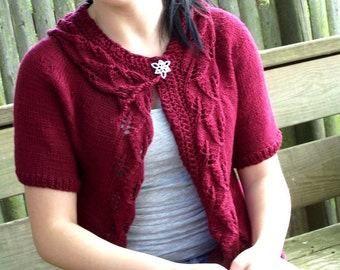 Knitting Pattern - Rustling Leaves Cardigan Instant Download pdf