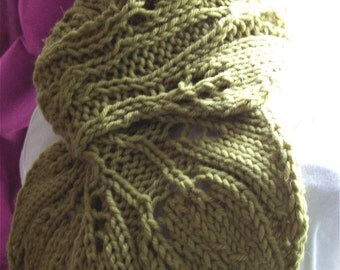 Knitting Pattern  -  Twin Leaves Instant Download pdf
