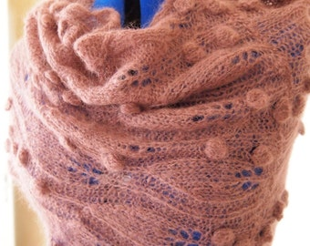Instant Download pdf Hand Knitting Pattern - Halo Scarf