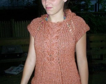 Knitting Pattern - Cabled Hoodie Instant Download pdf