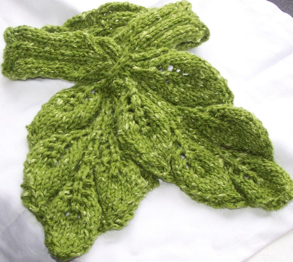Leafy Cable Neckwarmer Knit PDF Pattern - Fun and Unique