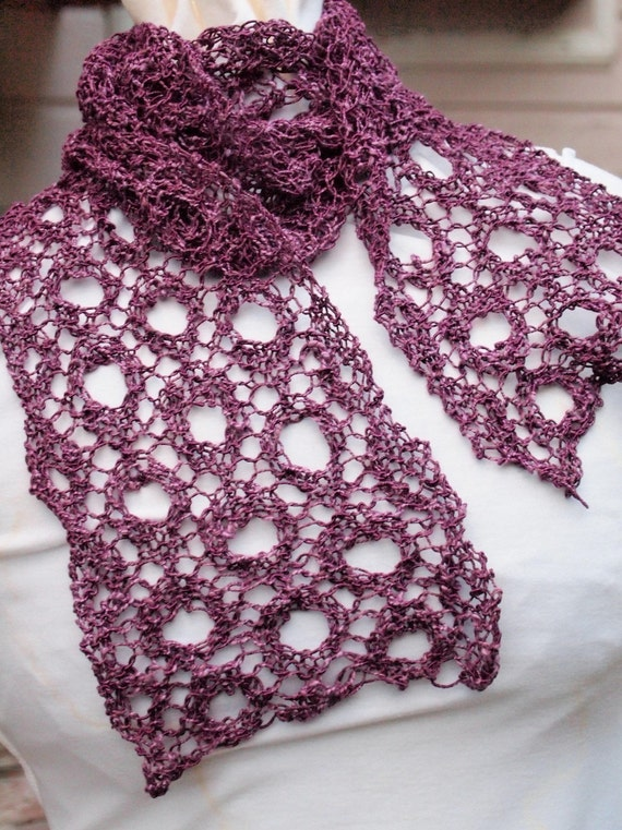 Scarf Knitting Pattern - Cheery O Scarf