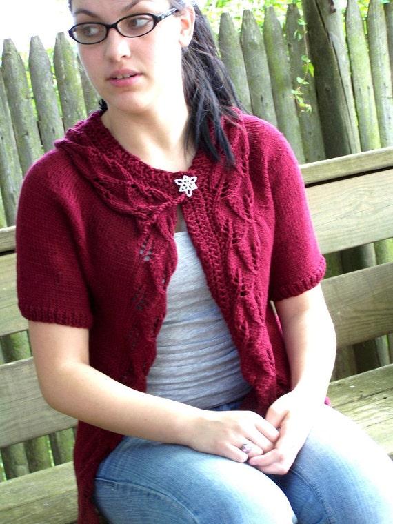 Knitting Pattern - Rustling Leaves Cardigan Instant Download pdf