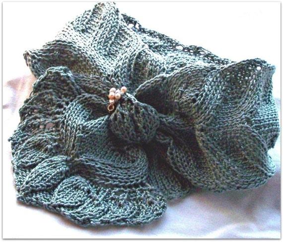 Spring Scarf Knitting Pattern : Scarf Knitting Pattern Spring Flora