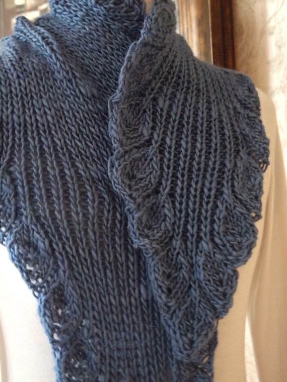 Ruffle Scarf Knitting Pattern : Scarf Knitting Pattern - Ruffle from KnitChicGrace on Etsy Studio