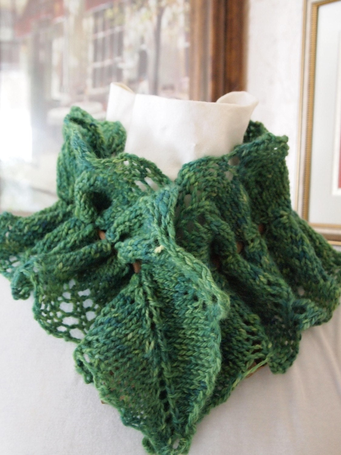 Purl Bee Knitting Patterns : Vine Cowl PDF Hand Knitting Pattern by KnitChicGrace on Etsy