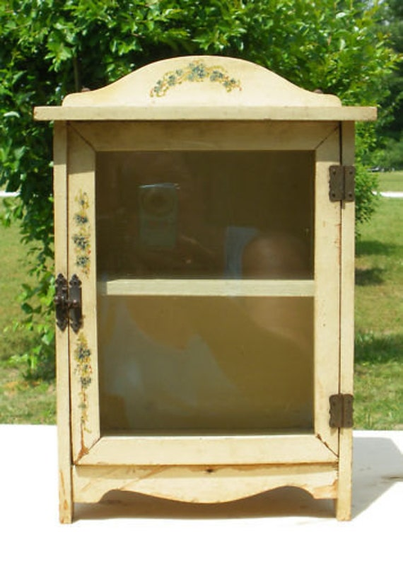 Half Price SALE Antique Doll China Cupboard Original Paint and Decals Half Price SALE