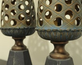RSVD for dkazan- Pair of vintage pineapple motif lamps
