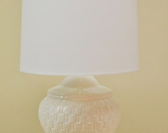 Vintage white ceramic lamp