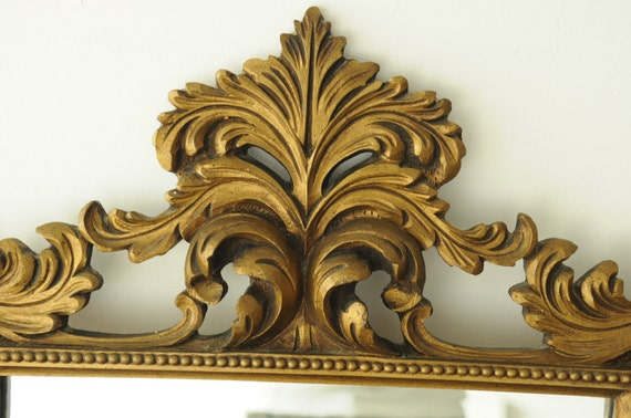 Vintage rococo style gilt mirror for Baroque resin mirror
