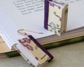 Purple Plum Blossoms Book Earrings (gold)