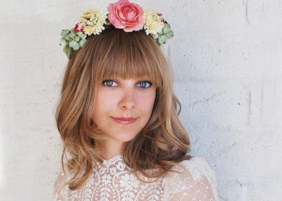 Garden Flower Crown - Bridal - Halo - Headpiece