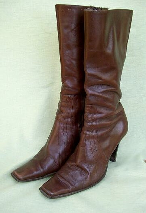Beautiful Details About VERA GOMMA WOMENS COBOY STYLE KNEE HIGH BOOTS SIZE UK 5