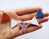 Union Jack British Flag Bunting Necklace