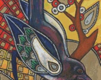 Modern Cross Stitch Kit by Lynnette Shelley 'Icon - V' - Cross Stitch Art