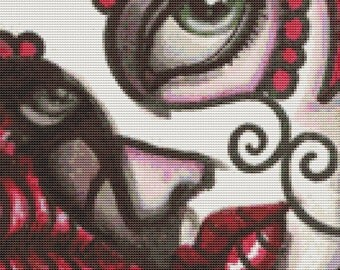 Day of the Dead Cross stitch kit by Shayne of the Dead 'Sugar'