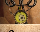 Perfect for Soccer Fans Lemon-Lime Soda 16-inch Leather Necklace