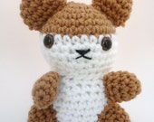 Amigurumi Hamster, Brown and White CLEARANCE