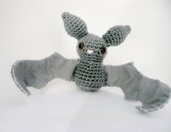 Amigurumi Bat Wings : Gray Bat Amigurumi Plush