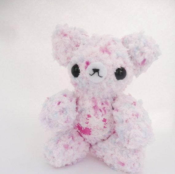 Amigurumi Pink Bear : Items similar to pastel pink teddy bear amigurumi on Etsy
