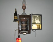 Illuminated Still-Life - antique found object assemblage sculpture by Dana Depew