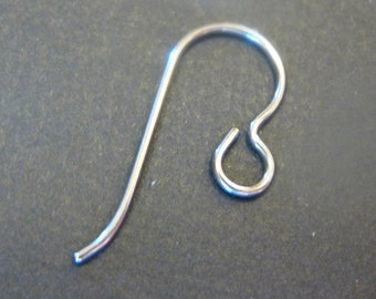 "Silver ""Grey"" Niobium Ear Wires - 10 Niobium Earwires (5 Pairs) - Jewelry Findings, Supplies"