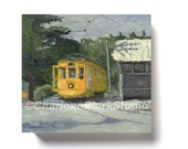 Ellicott City Trolley No. 9 Giclée Print on Cradled Canvas Panel