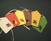 Autumn Leaf Tags... fall colors... gift tags... hang tags...  wedding tags...