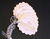 "Tags... ""handmade""... vintage inspired... hang tags... merchandise tags... gift tags... price tags... embellishments..."