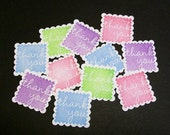 Thank You Stickers... postage stamps... embellishments... shop supplies... appreciation... labels...