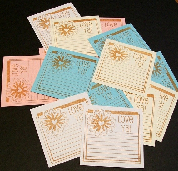 Journaling Spots... Flower note cards... love notes... scrapbook embellishments... gift cards... gift tags...