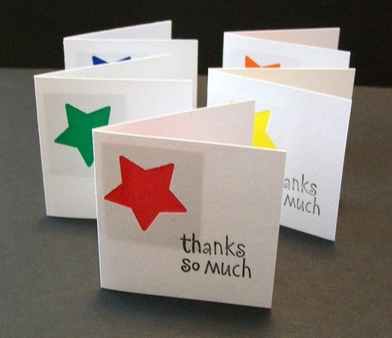 Mini Thank You Cards...Star Gift Card Assortment...
