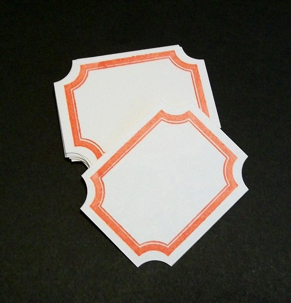White Label Stickers... Adhesive Label Stickers...  Vintage Inspired Frames... embellishments, tags or envelope seals