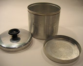 Vintage Aluminum Grease Canister  with lid