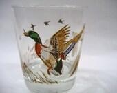 Vintage Glass Ducks in Flight