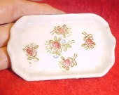 Porcelain Tray 1940s Miniature  Occ Japan Roses