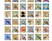 INSTANT DOWNLOAD -- Sabby Chic Vintage Music Squares    -    1 x 1 - Great Scrabble Tile Pendants1.75