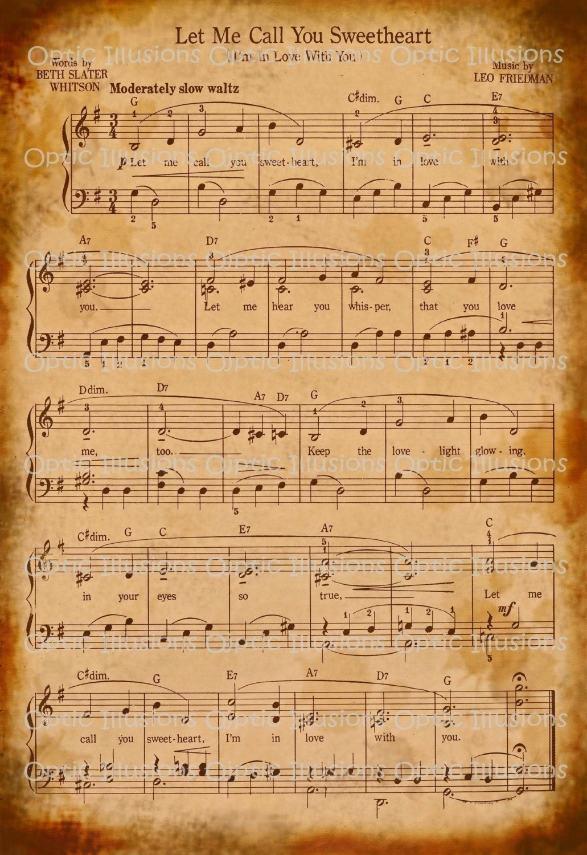 Vintage king sisters sheet music