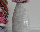 Sweet Vintage Thomas Vase with Gray Hatch Mark Motif