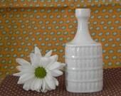 Vintage Hutschenreuther Neck Vase with Classic Diamond or Leaf Motif