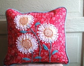 Cow Girl Hippie-Chick Flower Child Americana Sunflower 16 inch Pillow Cover