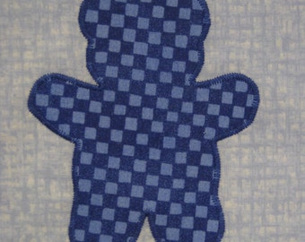 Teddy Bear blues  quilt blocks