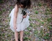 Double Ruffle Tulle Twirl Dress in Ivory.. 5t-8..dressbabybeautiful